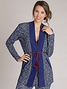 BEEDEES Cosy Label Cardigan in Strick-Jacquard