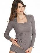 CALIDA Tarte Fine Shirt Langarm aus Wolle und Seide
