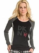 DKNY City Grid Logo-Shirt aus Modal