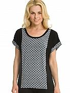 DKNY Graphic Avenue Shirt mit weitem Ärmel