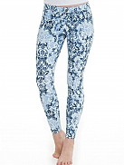HUE Evolution Denim- Blue Scroll Print Jeans Leggings mit Paisleyprint