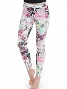 HUE Evolution Denim- Large Floral Print Jeans Leggings mit Rosenmotiv