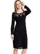 LA PLUS BELLE Women Nachtkleid mit Spitzen-Ausschnitt