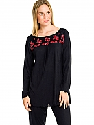 LA PLUS BELLE Women Pyjama mit Blütenstick