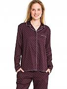MARC O'POLO Yvette Webpyjama aus satinierter Baumwolle