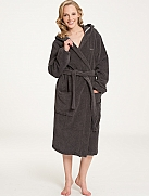 MARC O'POLO Classic Bathrobe Bademantel mit Kapuze Länge 120cm