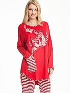 NANSO Foxtrot Pyjama mit Oversize Shirt