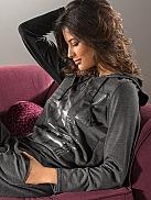 NINA VON C. Descrete Glam Shirt mit Kapuze