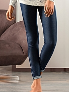 NINA VON C. Midnight Blues Leggings im Jeans-Look
