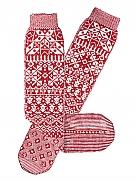PIP STUDIO Aniek Pipska Lange Socken mit Norwegermuster und Anti-Rutsch Sohle