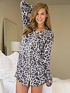 P.J. SALVAGE Wild Giraffe Big Shirt durchgeknöpft
