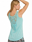 P.J. SALVAGE Playful Prints Tank-Top mit Häkelspitze