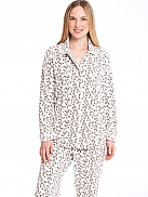 RINGELLA Lingerie Fleece-Pyjama mit Leo-Print
