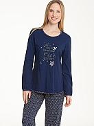 RINGELLA Lingerie Pyjama mit Sternenprint