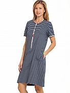RINGELLA Women Nachthemd mit Knopfleiste, geringelt