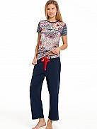 RINGELLA Women Pyjama mit 7/8 Hose