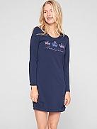 S.OLIVER Night Nachthemd mit Kronenprint