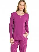 SCHIESSER Pink Folk Pyjama mit Bündchen
