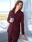 SCHIESSER Purple Folk Pyjama geknöpft, Interlock