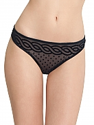 STELLA MCCARTNEY Christina Kissing String mit beflocktem Muster