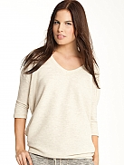 SUNDAY IN BED  Lounge Sweater in Melange-Optik
