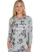 SHORT STORIES Shades of Grey Oversize-Shirt mit Blumenprint