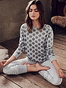 SHORT STORIES Shades of Grey Pyjama mit Ringel-Leggings