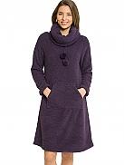 TAUBERT Melange Loungekleid aus Kuschel-Fleece Länge 100cm