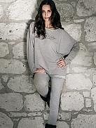 TAUBERT Melange Pyjama mit Leggings