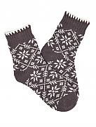 TAUBERT Sweden Socks Warme Strick-Socken mit Norwegermuster