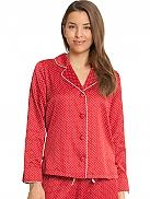 TAUBERT X-Mas Pyjama Oberteil aus Satin, geknöpft