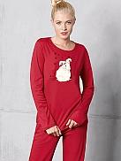 TRIUMPH Winter Dreams Pyjama mit kuscheligem Schneehasen
