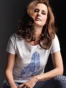 TAUBERT Brest T-Shirt mit Federmotiv