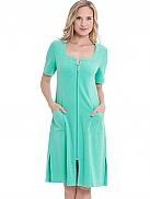 TAUBERT Home Feinfrottee Badekleid mit Reißverschluss<br> Länge 100cm