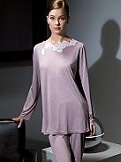 VERDIANI DONNA  Pyjama mit edlem Spitzenbesatz