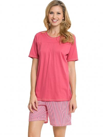 calida pink carnation kurz pyjama rot online shop. Black Bedroom Furniture Sets. Home Design Ideas