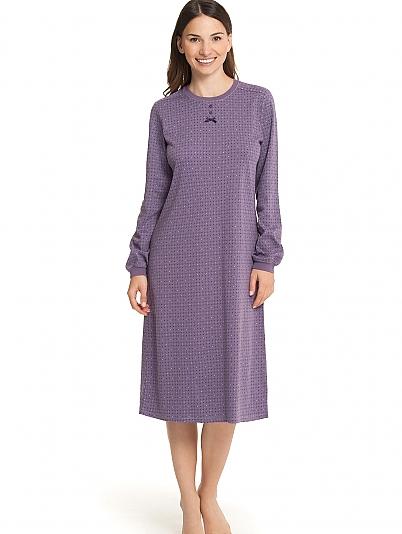 calida wild berry nachthemd langarm violett online shop. Black Bedroom Furniture Sets. Home Design Ideas