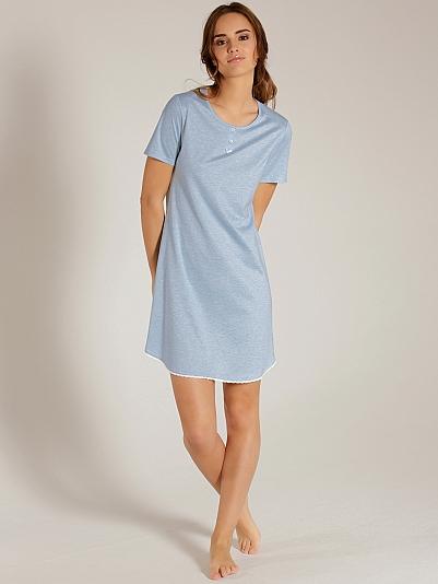 calida cosmopolitan kurzarm sleepshirt blau online shop. Black Bedroom Furniture Sets. Home Design Ideas