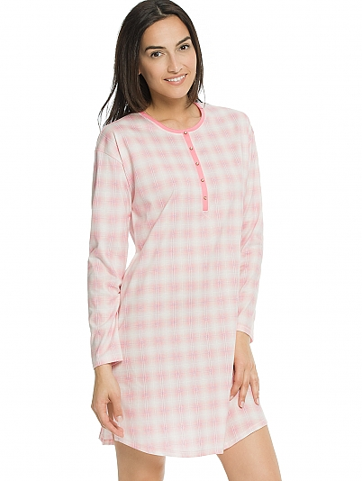 calida true colours nachthemd langarm rosa online shop. Black Bedroom Furniture Sets. Home Design Ideas