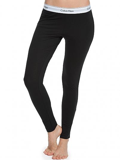 calvin klein modern cotton leggings mit logobund schwarz. Black Bedroom Furniture Sets. Home Design Ideas