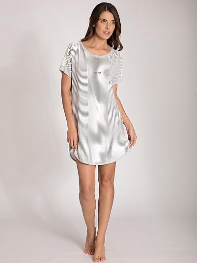 dkny clean slate sleepshirt grau online shop. Black Bedroom Furniture Sets. Home Design Ideas