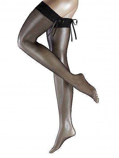 falke corsage halterlose str mpfe mit naht und schn rung schwarz online shop. Black Bedroom Furniture Sets. Home Design Ideas