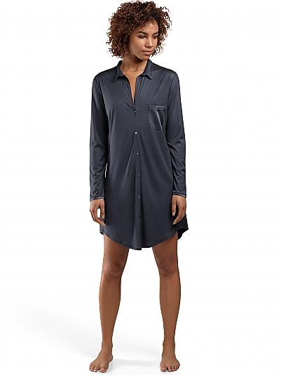 hanro grand central nachthemd mit seide violett online shop. Black Bedroom Furniture Sets. Home Design Ideas