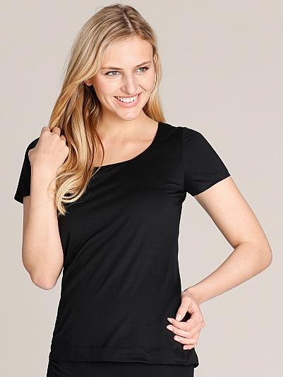 mey balance kurzarm shirt gedoppelt schwarz online shop. Black Bedroom Furniture Sets. Home Design Ideas