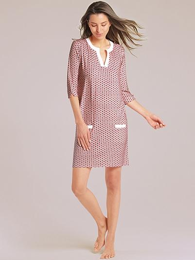 pip studio deir nachtkleid mit grafikprint rosa online shop. Black Bedroom Furniture Sets. Home Design Ideas