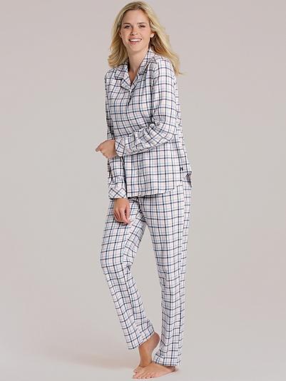 seidensticker elemental charme flanell pyjama gekn pft bunt online shop. Black Bedroom Furniture Sets. Home Design Ideas