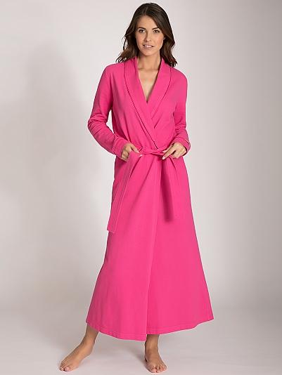 taubert cruise polo piqu bademantel mit schalkragen l nge 130cm rosa online shop. Black Bedroom Furniture Sets. Home Design Ideas
