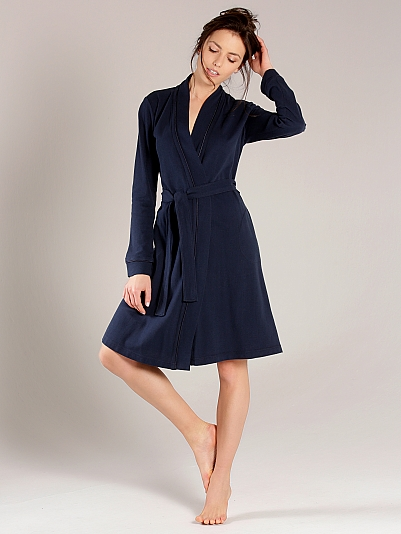 taubert cruise polo piqu bademantel kimono l nge 100cm blau online shop. Black Bedroom Furniture Sets. Home Design Ideas