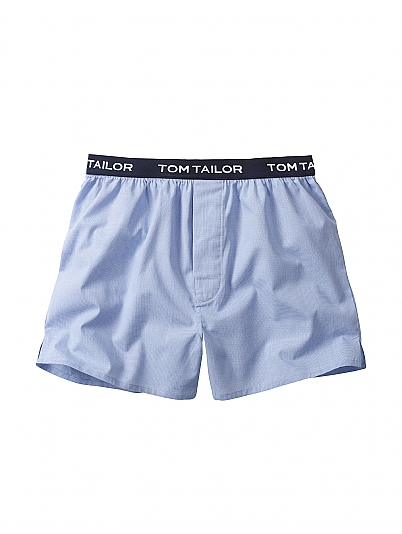 tom tailor weston web boxershorts mit logobund blau. Black Bedroom Furniture Sets. Home Design Ideas