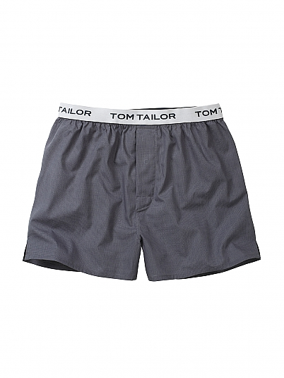 tom tailor weston web boxershorts mit logobund grau. Black Bedroom Furniture Sets. Home Design Ideas